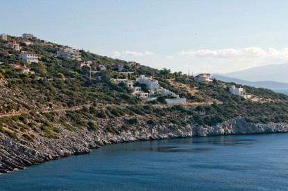 The Marathon Villa has panoramic view to Evia.